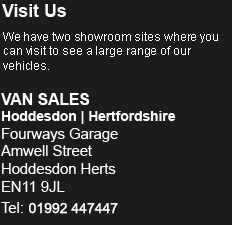 Van Hire Address